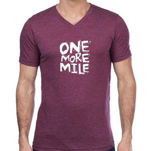 "Men's Perfect Tri Short Sleeve V - ""Dear God: Please Let There Be Someone Behind Me To Read This"""