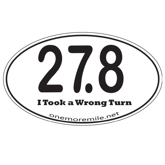 "Car Magnet ""27.8  I Took A Wrong Turn"""