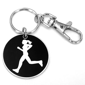 Keychain - Runner Girl