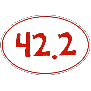 "Large Oval Sticker ""42.2"""