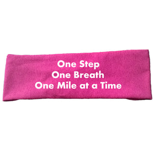 Coach Jenny's 'One Step, One Breath' Tech Headband