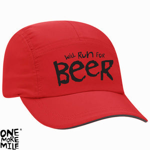 "OMM Marathon Cap - ""Will Run For Beer"""
