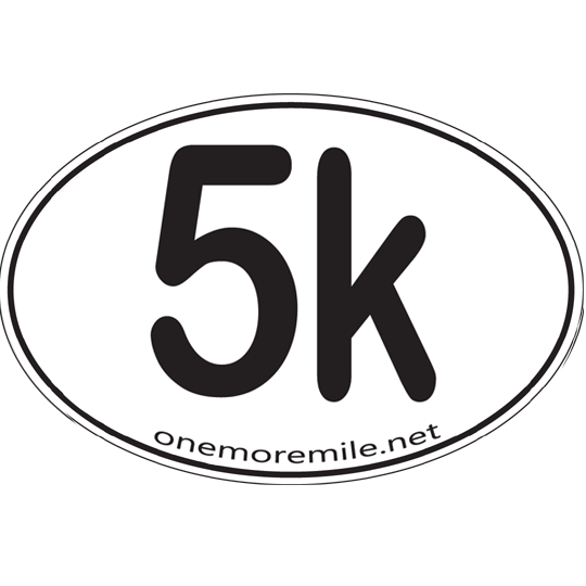"Large Oval Sticker ""5K"""