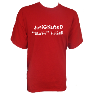 "Spectator Adult Cotton T Shirt - ""Designated 'Stuff' Holder"""