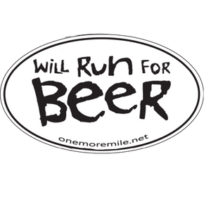 "Car Magnet ""Will Run For Beer"""