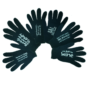 Slogan Gloves, Black