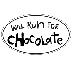 "Car Magnet ""Will Run For Chocolate"""