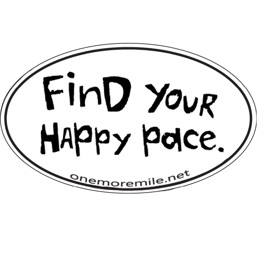 """Car Magnet """"Find Your Happy Pace"""""""