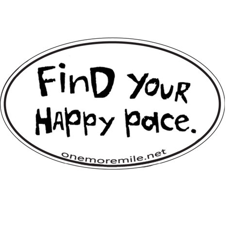 "Car Magnet ""Find Your Happy Pace"""