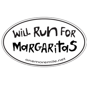 "Car Magnet ""Will Run For Margaritas"""