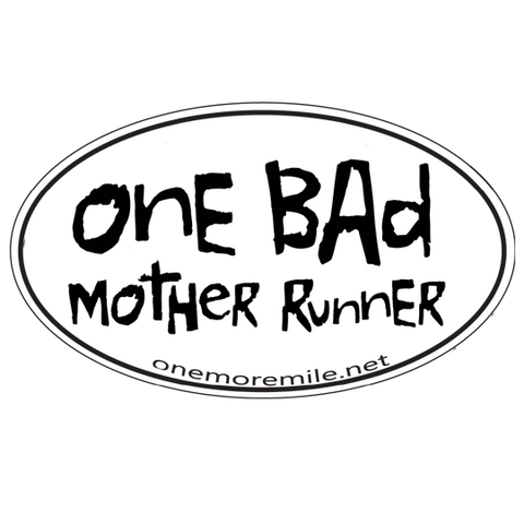 "Car Magnet ""One Bad Mother Runner"""