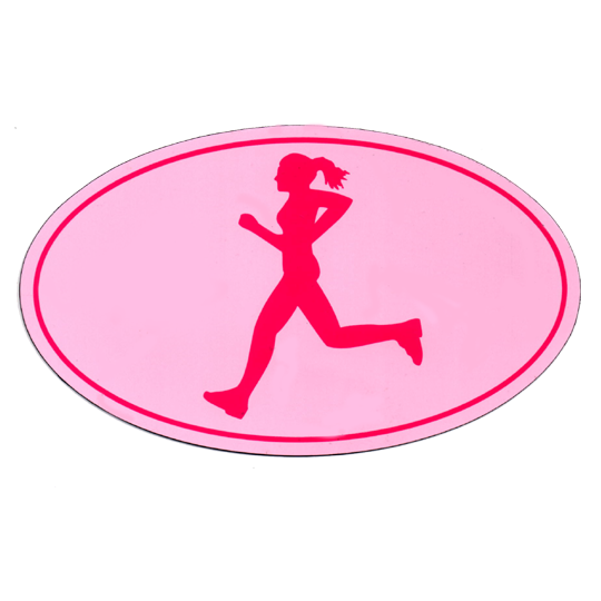 "Car Magnet ""OMM Girl"" - Pink w/ Fuschia Imprint"