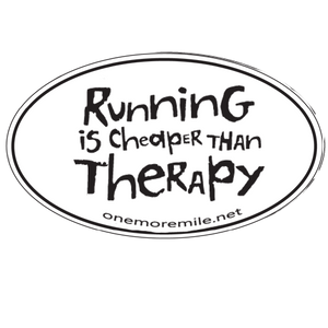 "Car Magnet ""Running Is Cheaper Than Therapy"""