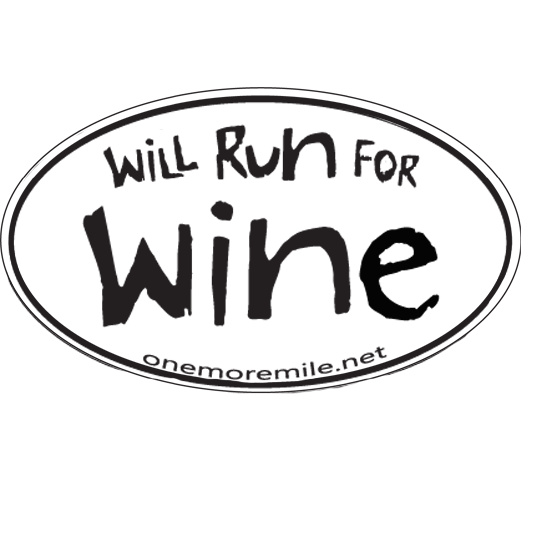 "Car Magnet ""Will Run For Wine"""