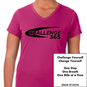 Coach Jenny's Challenge 2019 Ladies Sports Tech Short Sleeve V