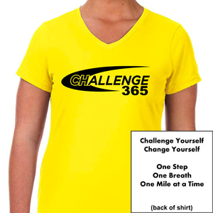Coach Jenny's Challenge 365 Ladies Sports Tech Short Sleeve V