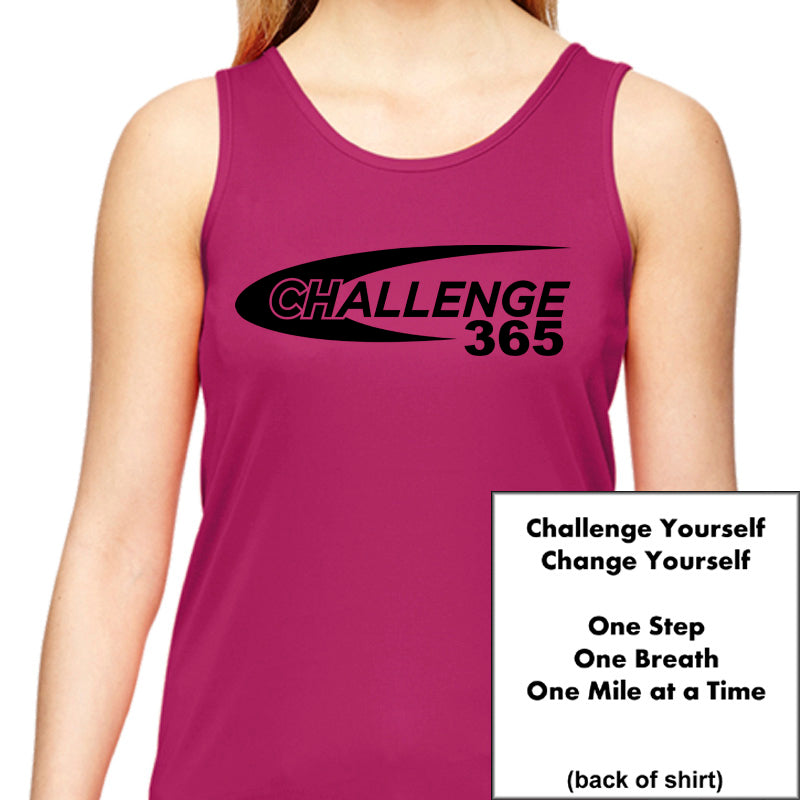 Coach Jenny's Challenge 2019 Ladies Sports Tech Tank Crew