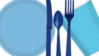 Blue Party Tableware