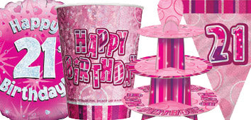 Pink 21st Birthday Supplies