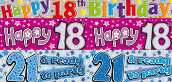 Age 18-21 Birthday Banners