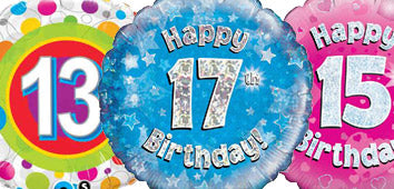 Age 13-17 Birthday Balloons
