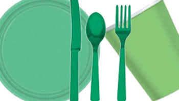 Green Party Tableware