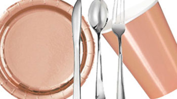 Metallic Party Tableware