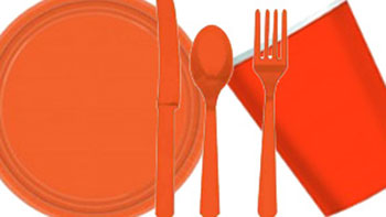 Orange Party Tableware