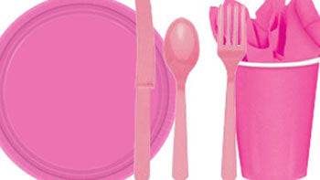 Pink Party Tableware