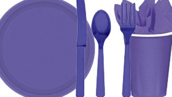 Purple Party Tableware