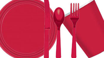 Red Party Tableware