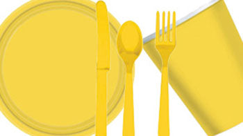 Yellow Party Tableware