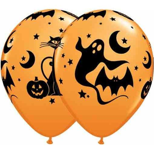 "11"" Fun And Spooky Icons Latex Balloons 25pk"