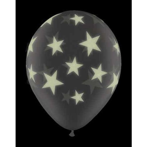 "11"" Glows Stars Latex Balloons 25pk"
