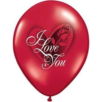 "11"" I Love You Red Rose Latex Balloons 25pk"