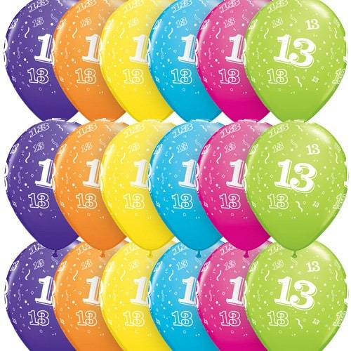 11 Inch 13 Around Tropical Assorted Latex Balloons 25pk.