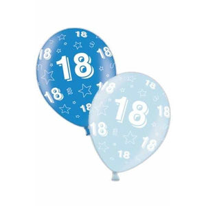 11 Inch 18th Birthday Blue Latex Balloons 25pk