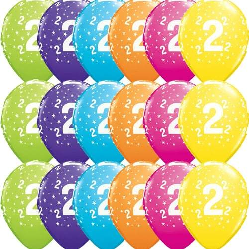 11 Inch 2 Stars Tropical Latex Balloons 25pk