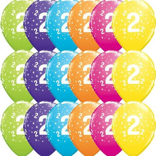 11 Inch 2 Stars Tropical Latex Balloons 50pk