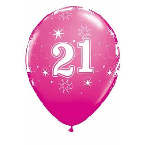 11 Inch 21 Wild Berry Sparkles Latex Balloons 25pk