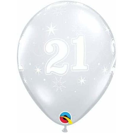 11 Inch 21tst Clear Sparkles Latex Balloons