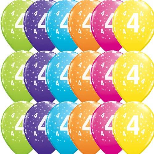11 Inch 4 Stars Tropical Latex Balloons 25pk