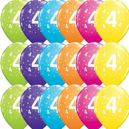 11 Inch 4 Stars Tropical Latex Balloons 50pk