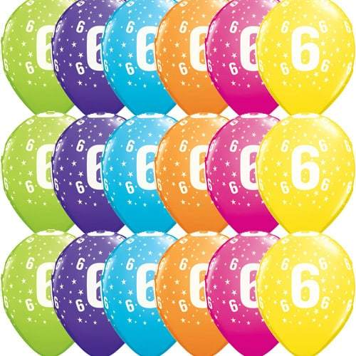 11 Inch 6 Stars Tropical Latex Balloons 25pk