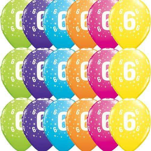 11 Inch 6 Stars Tropical Latex Balloons 50pk