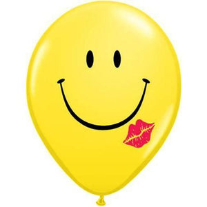 11 Inch A Smile And A Kiss Latex Balloons 50pk