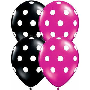 11 Inch Big Polka Dots Latex Balloons 25pk