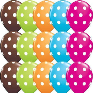 11 Inch Big Polka Dots Special Assorted Latex Balloons 50pk