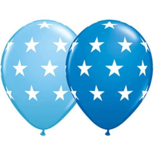 11 Inch Big Stars Assorted Latex Balloons 25pk