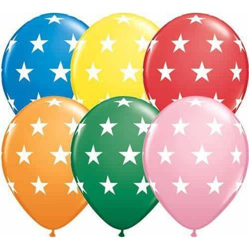 11 Inch Big Stars Standard Assorted Latex Balloons 50pk